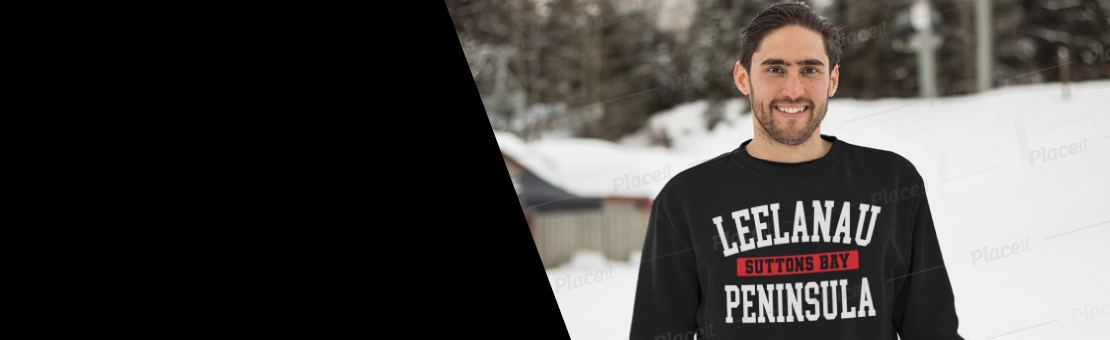 Keep warm during these cold Northern Michigan winter nights with our collection of sweatshirts